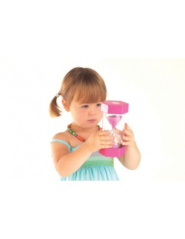 Grand sablier 2mins mesurer temps gestion maternelle primaire compter maths chronometre