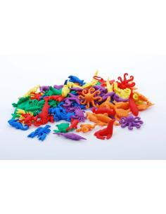 animaux aquatiques baleine crabe homard de tri couleur colore mathematiques didactique educatif pedagogique figurine
