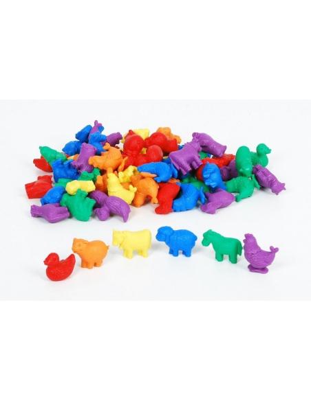 animaux ferme de tri couleur colore mathematiques didactique educatif pedagogique figurine catalogue scolaire ecole