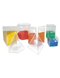 Lot volume géométrique remplir calculer volumes capacités didactique materiel geometrie espace ecole solide