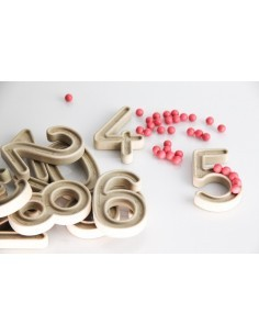Chiffres perles quantite symbole apprendre compter materiel montessori educatif scolaire