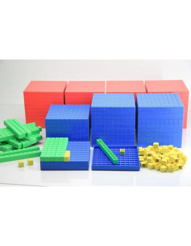 Système décimal coloré base 10 materiel maths montessori dienes méthode singapour ecole cm2 cm1