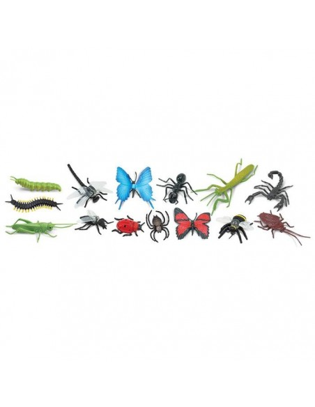 Insectes fourmi papillon coccinelle scorpion abeille figurine educative montessori education pedagogique maternelle safari enric