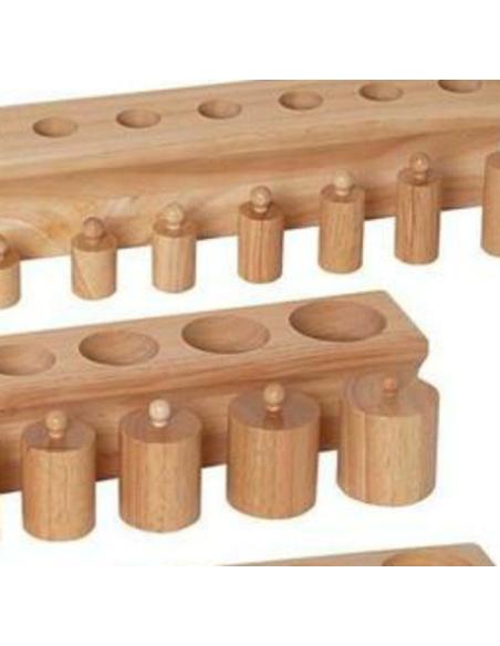 Lot emboitements cylindriques bloc cylindre materiel montessori didactique maternelle ambiance sensoriel ecole age