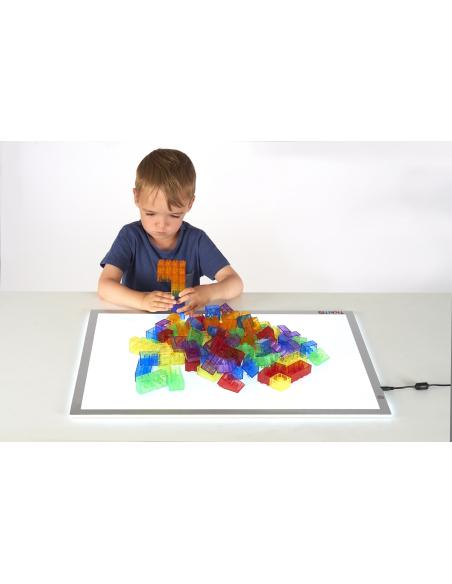 Table lumineuse sensorielle A2 enfant enrichissement reggio waldorf materiel sensoriel pedagogique sandart retraite