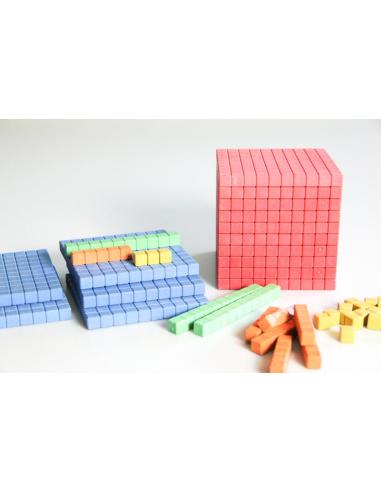 Système décimal de Lubienska – Ensemble de calcul coloré RE-WOOD® 121pcs Wissner apprentissage actif {PRODUCT_REFERENCE}  Systèm