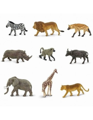 Figurines Afrique du Sud Tube Safari 100409 Matériel pédagogique Enrichissement Montessori Jouet Cartes maternelle science vocab