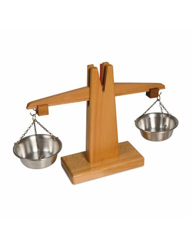 Petite balance en bois Montessori Nienhuis {PRODUCT_REFERENCE}  Manthématiques - 1