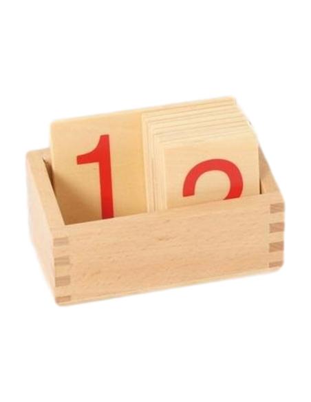 Boîte pour chiffres matériel Matériel Montessori rangement classe mobilier scolaire