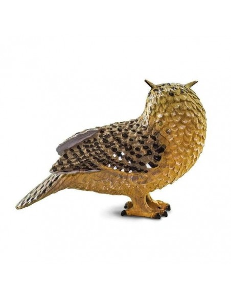 oiseau hibou grand duc figurine educative enrichissement montessori educatif collection jouet geographie collection