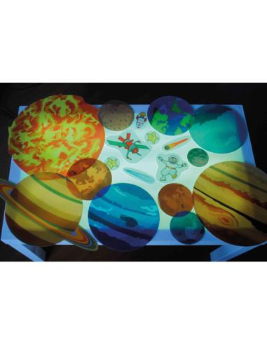 Planètes géantes translucides 19 pièces plastiques - 2 feuilles 73cm Autres {PRODUCT_REFERENCE}  Géographie - 2