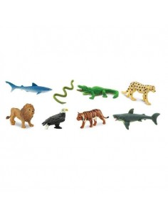 minis predateurs lion safari figurine cupcake educative enrichissement montessori educatif collection jouet geographie