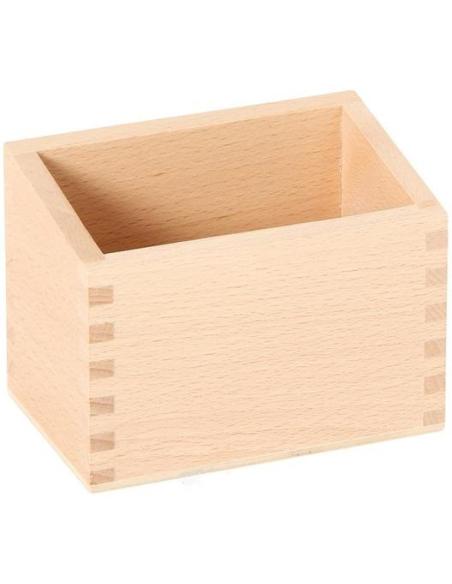 Boîte pour chiffres rugueux Matériel Montessori mathematique plaque rangement classe maternelle