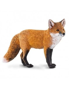 renard roux asie animal safari figurine educative enrichissement montessori educatif collection jouet geographie