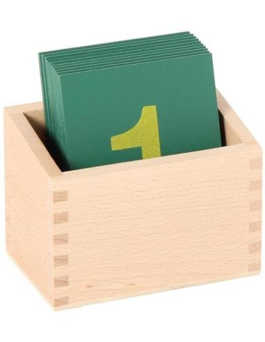 Boîte pour chiffres rugueux Matériel Montessori Haut de gamme
