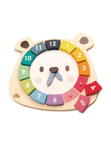 Horloge ours coloré - Jouet en bois Tender Leaf Tender Leaf TL8408  Heure (temps) - 1