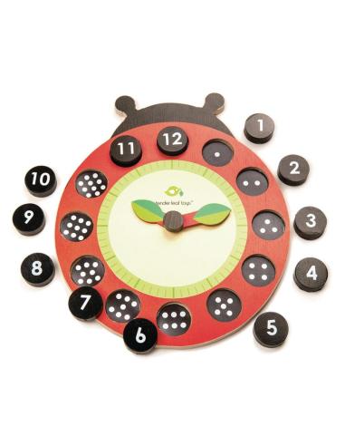 Horloge coccinelle - Jouet en bois Tender Leaf Tender Leaf TL8412  Heure (temps) - 1