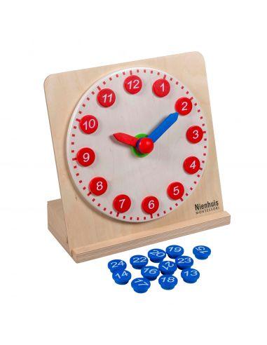 Horloge avec aiguilles mobiles Montessori Nienhuis {PRODUCT_REFERENCE}  Manthématiques - 1