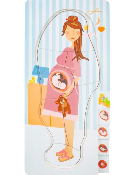 Puzzle à étages évolution grossesse cycle embryon biologie svt ecole maternelle primaire gestation femme bebe jouet jeu