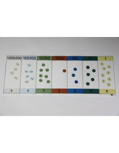 Tableau de numération décimale pliable Wissner apprentissage actif {PRODUCT_REFERENCE}  Système décimal - 5