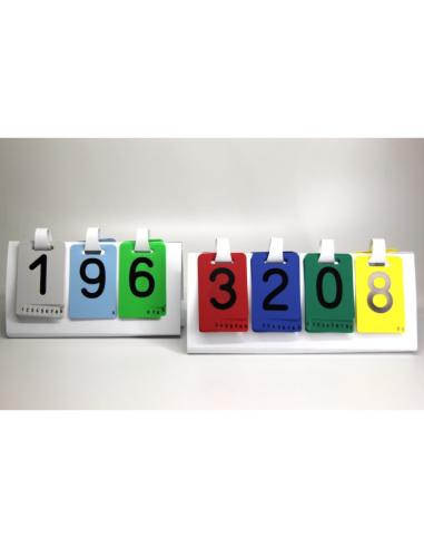Chevalet du Système décimal de 1.000.000 avec chiffres rabattables Wissner apprentissage actif {PRODUCT_REFERENCE}  Système déci