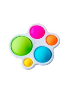 Dimpl jouet jeu pedagogique motricite fine premier age petite enfance creche collectivite couleur sensorielle cause effet enfant