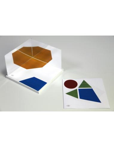 Lot miroirs de symétrie avec support 16 cm et 15 cartes de modèles à réaliser Wissner apprentissage actif {PRODUCT_REFERENCE}  G