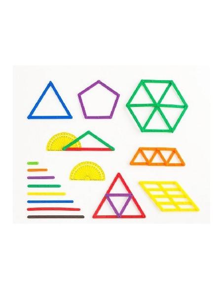 Baguettes géométrie Geostix materiel pedagogique maths mathematique apprendre jeu singapour montessori