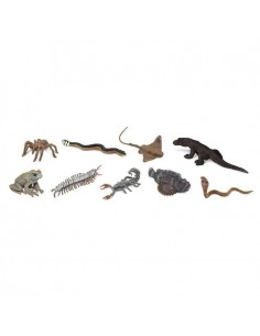 Créatures venimeuses figurine educative montessori tarentule raie komode crapaud cobra poisson pierre scorpion safari 679504