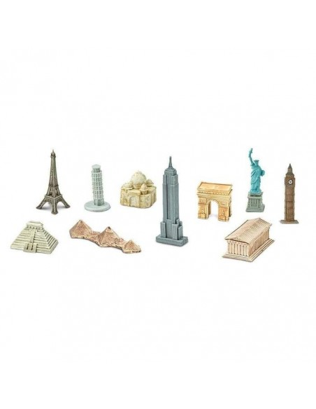 Lot monument mon histoire figurine educative montessori paris tour eiffel parthenon palenque maya taj mahal safari 679604