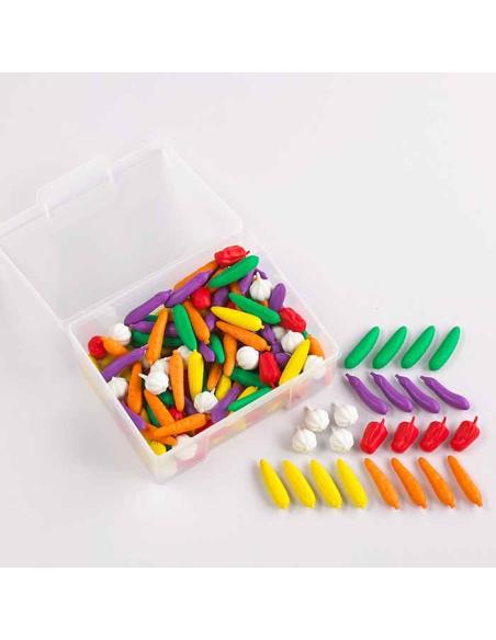 Lot 144 Légumes jeu courses compter trier couleur maths singapour ief ecole maison classe apprendre maths plastique