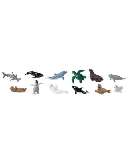 bébés aquatique ocean mer dauphine pedagogique collectioner tube maternelle carte marine figurine educative montessori education