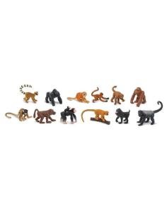 Singes figurine educative montessori education enrichissement animaux sauvage singe babouin macaque gorille enfant jouet safari