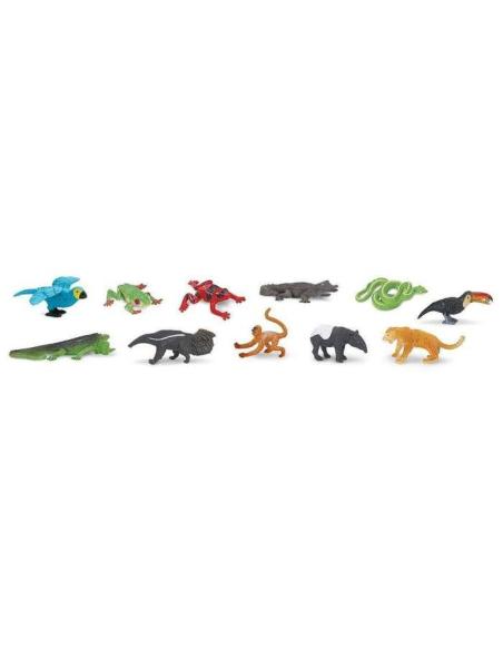 Forêt tropicale figurine educative montessori education grenouille caiman tapir fourmilier pedagogique safari faune