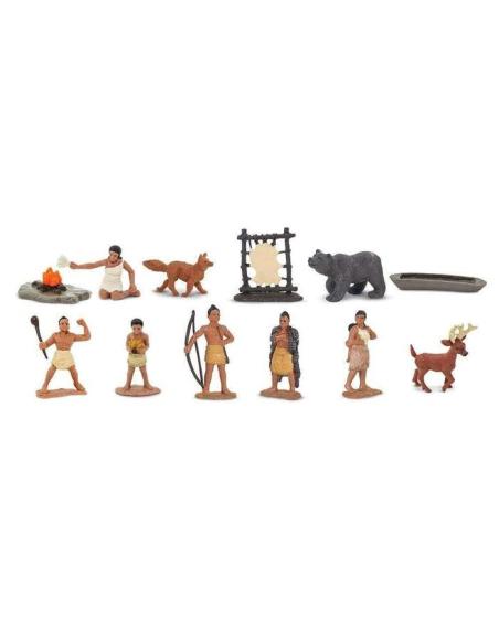 Histoire Indiens Powhatan figurine educative montessori education enrichissement amerique pocahontas safari 680304