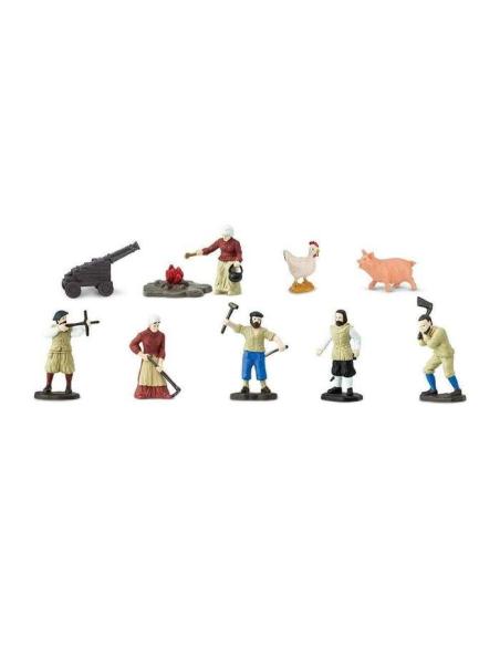 colons Américains figurine educative montessori enrichissement pedagogique education anglais safari 680204 histoire jamestown