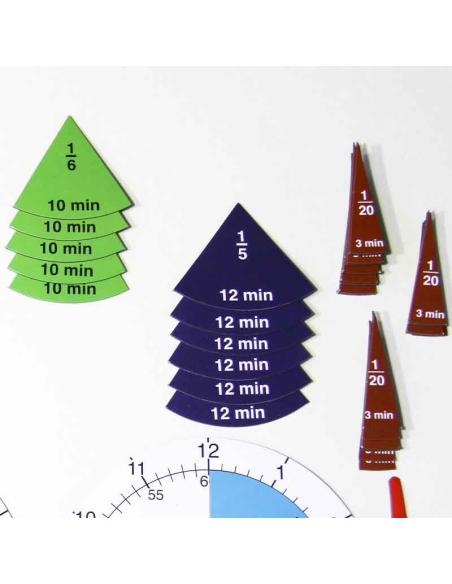 fraction horloge materiel pedagogique didactique scolaire heure wissner mesure 120240 apprendre primaire college comparaison