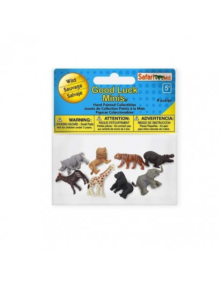 animaux sauvages figurine educative montessori education enrichissement girafe lion tigre okapis safari 346322 minis