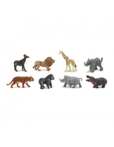 animaux sauvages figurine educative montessori education enrichissement girafe lion tigre okapis safari 346322 minis