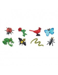 Animaux jardin figurine educative montessori education enrichissement materiel nomenclature insecte safari 346022 sachet minis