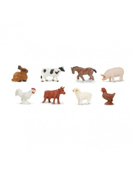 animaux ferme minis figurine safari educative pedagogique montessori enrichissement lapin vache cheval mouton poule 346522
