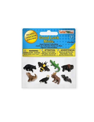 Thème faune Amérique Nord figurine educative montessori pedgagoqique safari minis 349922 enrichissement carte geographie