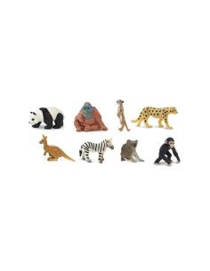 animaux exotiques figurine educative montessori pedagogique enrichissement safari 352222 sauvage panda guepar chimpanze