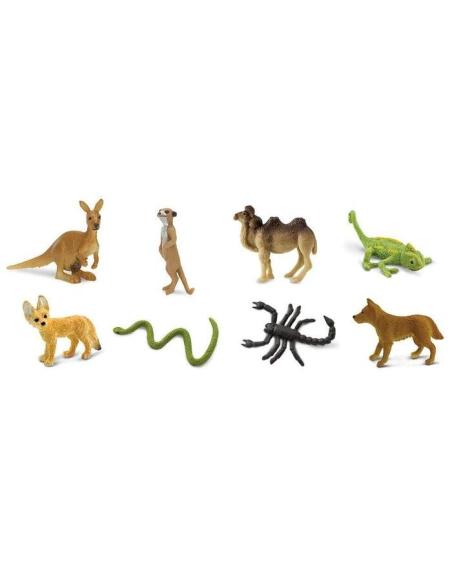 désert minis figurine safari chameau animaux miniature vente montessori materiel enrichissement kangourou continent