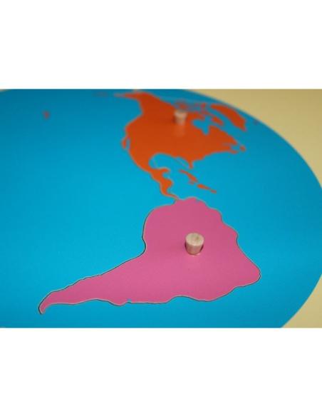 Puzzle carte planisphère continent monde matériel montessori pedagogique lesmini educatif didactique ecole maternelle geographie