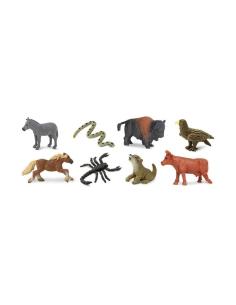 mini continent americain bison Animaux figurine educative montessori enrichissement materiel nomenclature safari sachet