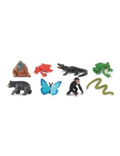 mini foret tropical ours Animaux figurine educative montessori enrichissement materiel nomenclature safari sachet