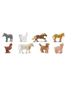 mini Animaux ferm figurine educative montessori enrichissement materiel nomenclature safari sachet cochon