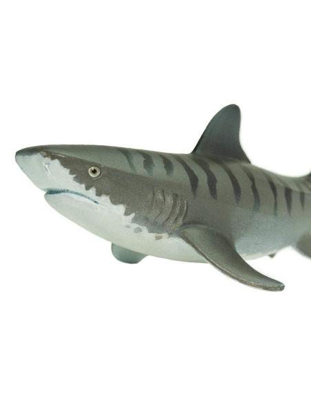 Requin Tigre Figurine poisson safari jouet pedagogique educatif enrichissement maternelle primaire ocean mer marine montessori
