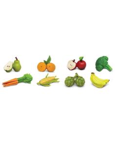 Fruits légumes figurine educative montessori education safari 688304 pedagogique nomenclature apprendre tube decoupe